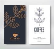 Verpakkende ontwerpkoffie vector illustratie