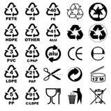 Verpakkende pictogrammen voor ontwerpers Stock Foto's