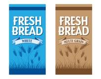 Verpakking van brood Stock Afbeelding