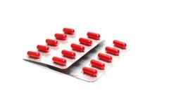 Verpakking van pillen Stock Foto's
