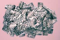 Verpakking van pillen Stock Foto
