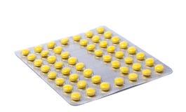 Verpakking van pillen en capsulesgeneesmiddelen Royalty-vrije Stock Foto's
