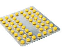 Verpakking van pillen en capsulesgeneesmiddelen Stock Afbeelding