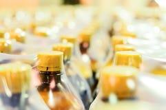 Verpakking van plastic flessen Stock Afbeeldingen