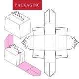 Verpakking voor schoonheidsmiddel of skincare product stock illustratie