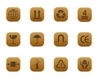 verpakkings symbolen Royalty-vrije Stock Afbeelding
