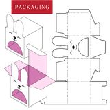 Verpakkingsontwerp Vectorillustratie van doos stock illustratie