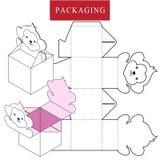 Verpakkingsontwerp Vectorillustratie van doos royalty-vrije illustratie
