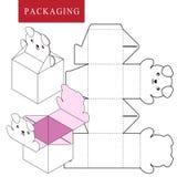 Verpakkingsontwerp Vectorillustratie van doos vector illustratie