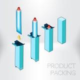 Verpakkingsproduct en verwerkende industrie Royalty-vrije Stock Afbeelding