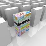 Verpakt het laarzentrekker Nieuwe Product Vele Dozen Unieke Zelf Gefinancierde Busi royalty-vrije illustratie
