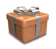 Verpakte bruine gift 3D v3 Royalty-vrije Stock Afbeeldingen