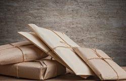 Verpakte de pakketten van de stapel Stock Foto's