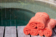Verpakte handdoeken Stock Foto