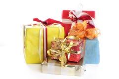 Verpakte Kerstmis stelt voor stock afbeelding