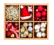 Verpakte Kerstmisballen Stock Foto's
