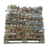 Verpakte stapel vers gesneden bomen royalty-vrije stock afbeelding