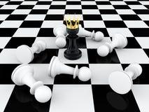 Verpand koning Stock Afbeelding