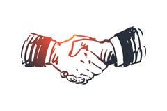 Verpflichtung, Hand, Abkommen, Geschäft, Partnerschaftskonzept Hand gezeichneter lokalisierter Vektor vektor abbildung