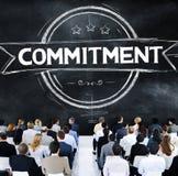 Verpflichtungs-Hingabe-Widmungs-Überzeugungs-Konzept lizenzfreies stockbild