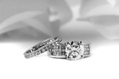 Verpflichtungs-Hochzeits-Ringe Stockbild