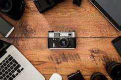 Verplaatsing van oude technologie Stock Foto's