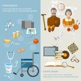 Verpleeghuisgepensioneerden en hobbys sociale bescherming Stock Fotografie