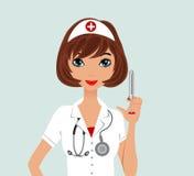Verpleegster vector illustratie
