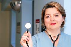 Verpleegster of arts stock foto's