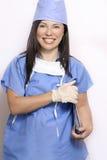 Verpleegster in eenvormige het ziekenhuis stock fotografie