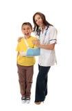 Verpleegster en gelukkige patiënt royalty-vrije stock foto