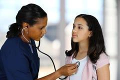 Verpleegster en Patiënt Royalty-vrije Stock Foto