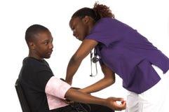 Verpleegster en Patiënt Royalty-vrije Stock Afbeelding