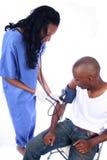 Verpleegster en Patiënt Royalty-vrije Stock Foto's
