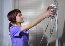 Verpleegster in het ziekenhuis Stock Afbeeldingen
