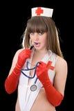 Verpleegster met een stethoscoop Royalty-vrije Stock Afbeeldingen