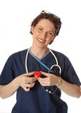 Verpleegster met Hart royalty-vrije stock afbeeldingen
