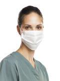 Verpleegster met masker 2 Stock Afbeelding