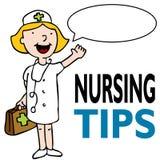 Verpleegster met Medische Uitrusting Stock Afbeeldingen