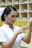 Verpleegster op het werk Stock Afbeelding