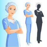 Verpleegster (vrouw) Royalty-vrije Stock Foto's
