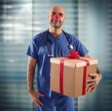 Verpleegstersclown Royalty-vrije Stock Foto