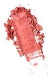 Verpletterd die rouge op wit wordt geïsoleerd royalty-vrije stock afbeeldingen