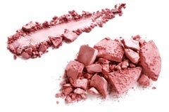 Verpletterd rouge op wit Stock Foto