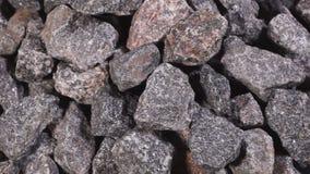 Verpletterd steenclose-up stock video