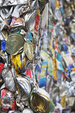 Verpletterd Tin Cans For Recycling Royalty-vrije Stock Afbeeldingen