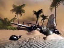 Verpletterd vliegtuig royalty-vrije stock foto's