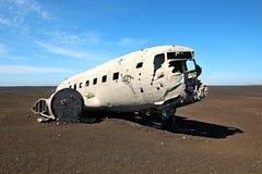 Verpletterd vliegtuig in IJsland Royalty-vrije Stock Afbeelding