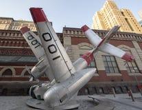 Verpletterd vliegtuig, straatkunst door Jordan Griska, Philadelphia Stock Fotografie