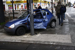 Verpletterde auto Stock Foto's